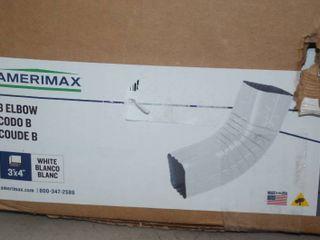 10 Amerimax B Elbow White Aluminum Gutter Parts