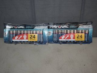 48 Rayovac High Energy AA Batteries
