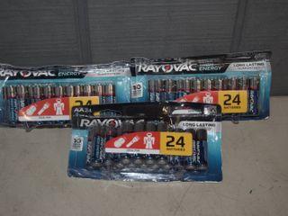 72 Rayovac High Energy AA Batteries