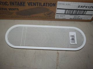 36 Undereave Vents 4  x 12  Oval White
