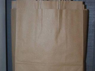 150 Kraft Gift or Shopping Bags 13  x 7  x 17