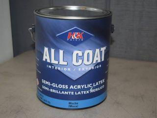 Gallon H K Paints All Coat Semi Gloss Acrylic latex Paint   Interior Exterior   Mocha