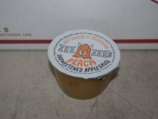 40 Zee Zee s Peach Unsweetened Applesauce Cups   Best by 12 2021