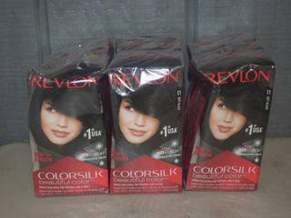 9 Boxes Revlon Color Silk Soft Black Hair Color