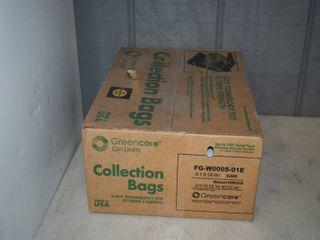 100 Clear Greencore Trash Bags 40  x 58
