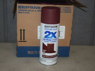 6 Cans Rust Oleum Ultra Cover Spray Paint   Claret Wine