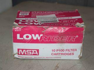 10 MSA low Rider P100 Respirator Filter Cartridges
