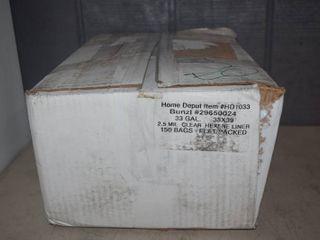 150 Clear Trash Bags 33 Gallon