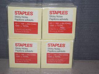 24 Staples Sticky Notes Pads