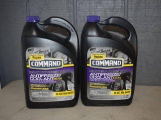 2 Gallons Prestone Command Heavy Duty Prediluted Antifreeze Coolant