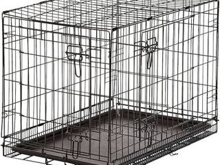 AmazonBasics Double Door Folding Metal Dog Crate   48 Inches