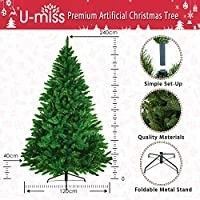 U miss 7 5ft Artificial Holiday Christmas Tree