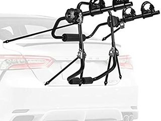 AONI Car Bike Rack  Trunk or Hitch Carrier  1 2 Bicycle Carrier Options  Designed for car hatchbacks and SUVs with Slanted Profiles