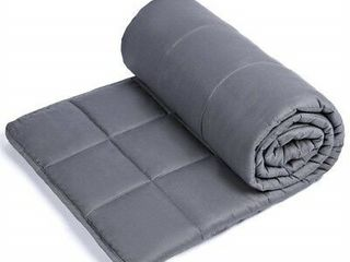 Sivio Weighted Blanket  60  x 80  20lbs  Grey  100  Cotton Material with Glass Beads