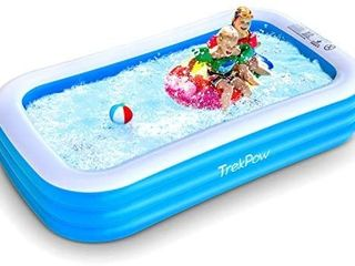 TrekPow Inflatable Swimming Pool  118 x72 x20  Full Sized Blow Up Pool