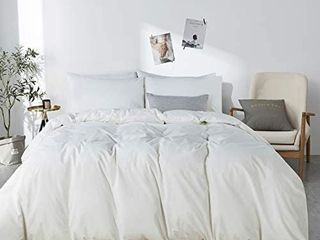 JEllYMONI White 100  Washed Cotton Comforter Queen Size 90x90