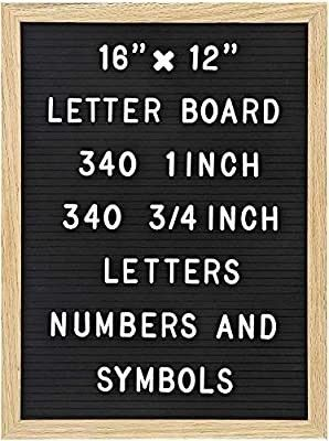 Felt letter Board with 680 letters