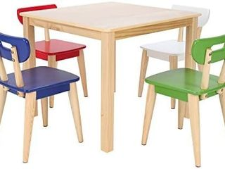 Max   lily Natural Wood Kid and Toddler Square Table  table only   no chair s