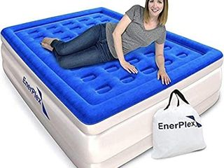 EnerPlex Never leak king Air Mattress with Built in Pump Raised luxury Airbed Double High king Inflatable Bed Blow Up Bed