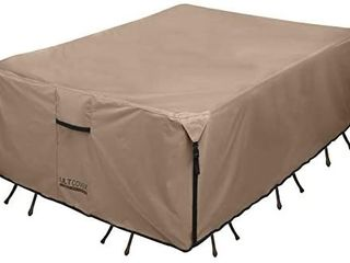 Ultcover Rectangular Patio Heavy Duty Table Cover   600d Tough Canvas Waterpr