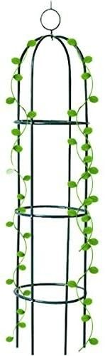 Tower Obelisk Garden Trellis Tall Plant Support for Climbing Vines and Flowers Stands Black Green lightweight Plant Tower