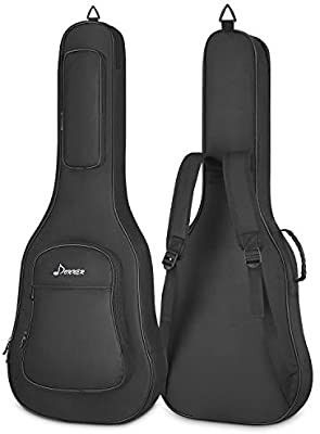 Donner 36 Inch Acoustic Guitar Gig Bag 0 5in Padded Sponge 600D Thick Ripstop Waterproof Nylon Soft Carry Case for Home Storage Travel 3 Pockets Dual Adjustable Straps Black