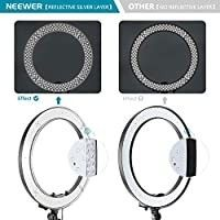 Neewer Ring light  18 48cm Outer 55W 5500K Dimmable lED Ring light Carrying Bag for Camera Smartphone YouTube TikTok Self Portrait Shooting  Black  bag light and cord only