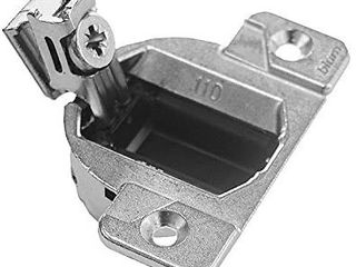 Blum 33 3600x20S 33 3600 Compact 33 Screw on 110 Degree Opening Face Frame Hinge  Zinc Die Cast  Pack of 2  Nickel Finish