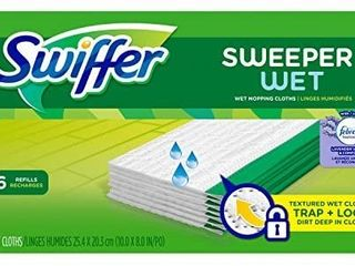 Swiffer Sweeper Wet Mopping Cloth Multi Surface Refills  Febreze lavender Vanilla   Comfort Scent  32 count