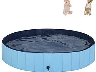MorTime Foldable Dog Pool Portable Pet Bath Tub large Indoor   Outdoor Collapsible Bathing Tub for Dogs and Cats