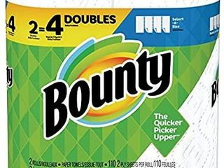 Bounty Paper Towels  2 Ply  White