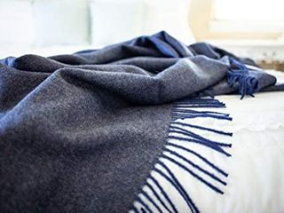 Wool Herringbone   Ethically Sourced  The for Any Age or Occasion Navy Blue