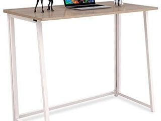4NM Folding Desk  No Assembly Small Computer Desk Home Office Desk Foldable Table Study Writing Desk