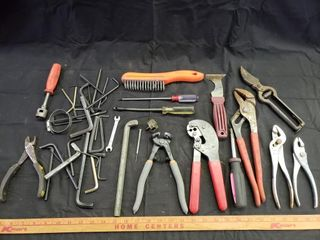 Assorted Tools   Hex Wrenches  Cutters  Pliers