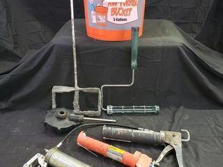 Grease Caulk Guns   Paint Rollers   Buckets  3