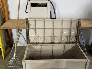 Suncast Outdoor Storage   Hose Reel   Rake