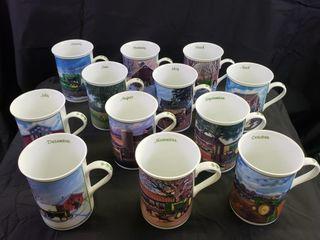 John Deere Farm Year Mugs   12pc