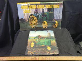 John Deere Tractor Calendar   Wall Decor