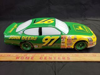 John Deere Ceramic Stock Car Bank