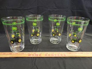 John Deere Pint Glasses   4pc