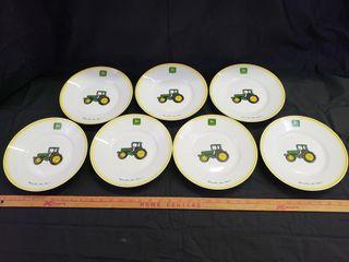 John Deere Salad Plates   Gibson   7pc