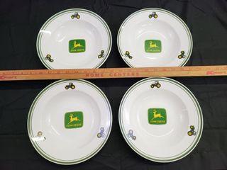 John Deere Soup Cereal Bowls   Gibson   4pc