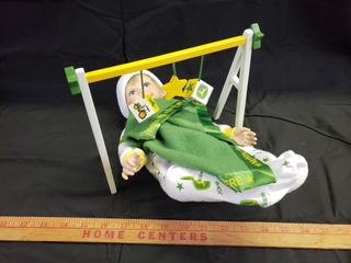 John Deere  Baby  Porcelain Doll with Toy