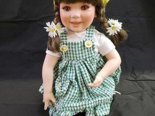 John Deere  Sally  Porcelain Doll Danbury Mint