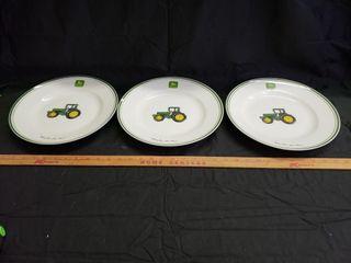 John Deere Dinner Plates   Gibson   3pc