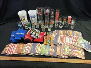 Miller lite   Assorted Coasters   Shot Glasses