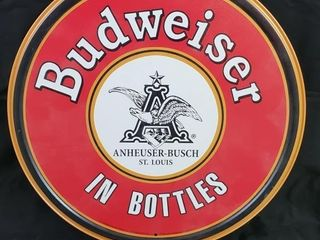Budweiser in Bottles  Tin Sign