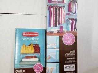 Rubbermaid Closet Organizer with Extra Shelf