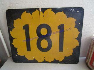 HIGHWAY 181 SIGN