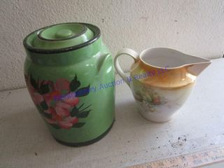 COOKIE JAR AND PITCHER